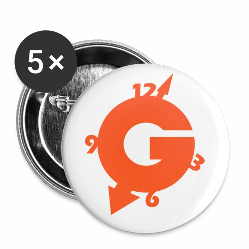 NEW GOZOTIME LOGO solo 2018 C - Buttons small 1'' (5-pack)