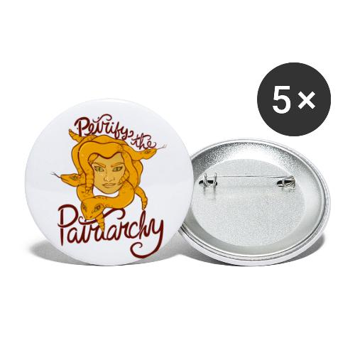 Petrify the patriarchy - Buttons small 1'' (5-pack)