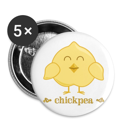 CHICKpea - Buttons small 1'' (5-pack)