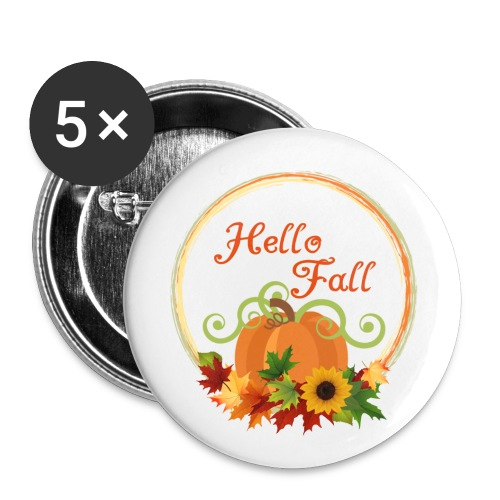 hello fall - Buttons small 1'' (5-pack)