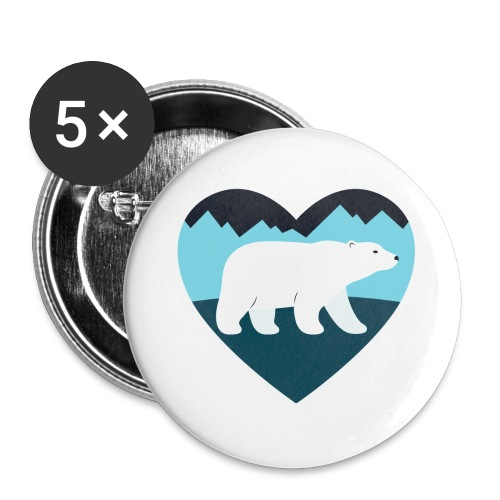 Polar Bear Love - Buttons small 1'' (5-pack)