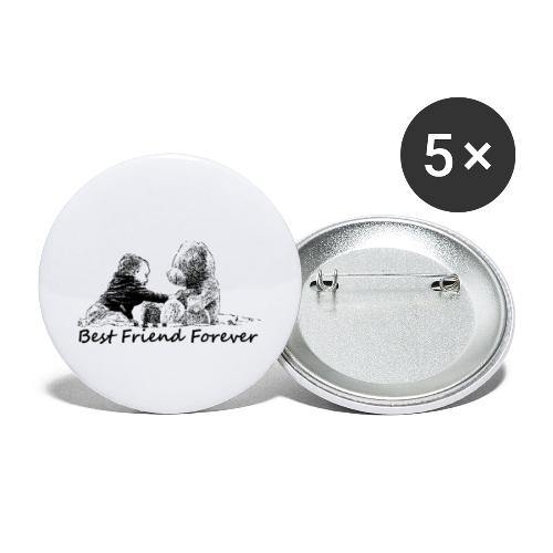 Best Friend Forever (boy) - Buttons small 1'' (5-pack)