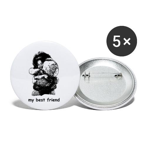 My best friend (girl) - Buttons small 1'' (5-pack)