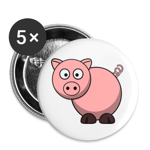 Funny Pig T-Shirt - Buttons small 1'' (5-pack)