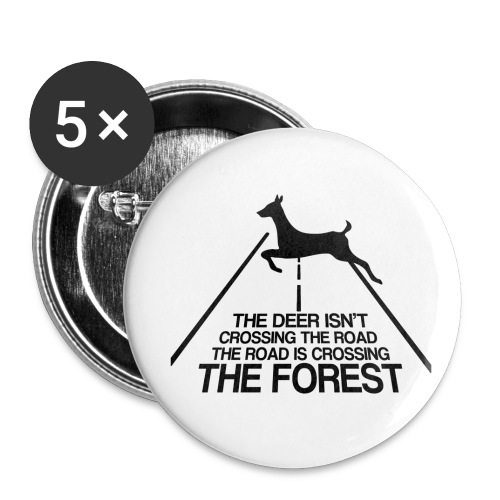 Deer's forest - Buttons small 1'' (5-pack)