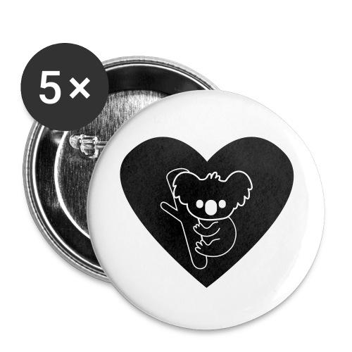 Koala Love - Buttons small 1'' (5-pack)