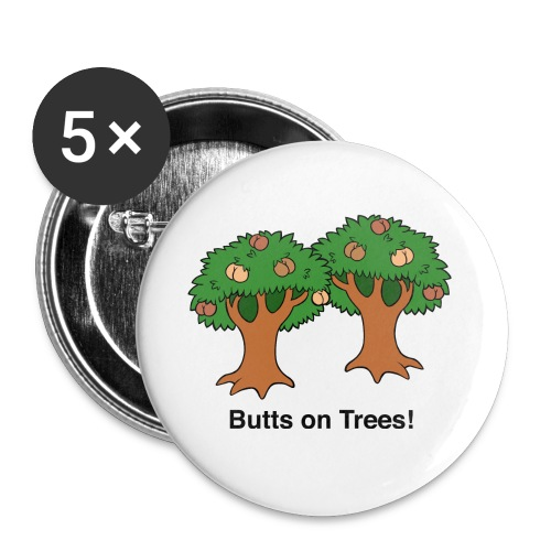 Butts on Trees! - Buttons small 1'' (5-pack)