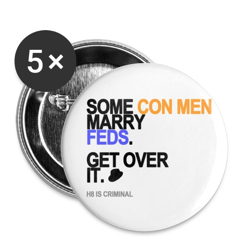 some conmen marry feds lg transparent - Buttons small 1'' (5-pack)