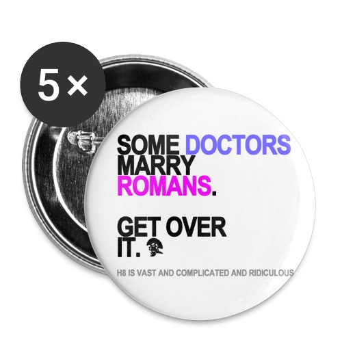 some doctors marry romans lg transparent - Buttons small 1'' (5-pack)