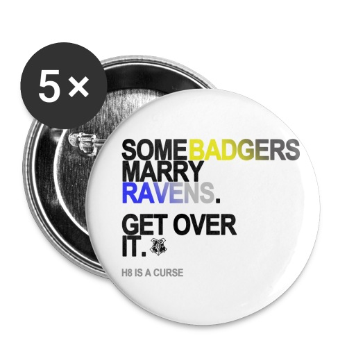 some badgers marry ravens lg transparent - Buttons small 1'' (5-pack)