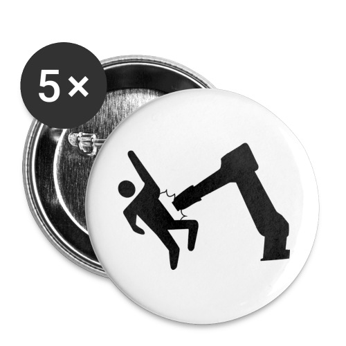 RoboBlackAttack - Buttons small 1'' (5-pack)
