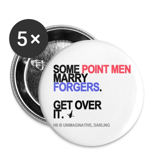 some point men marry forgers lg transpar - Buttons small 1'' (5-pack)