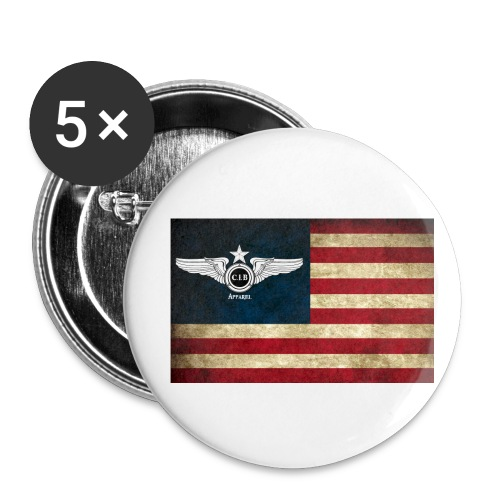 Flight USA Flag - Buttons small 1'' (5-pack)