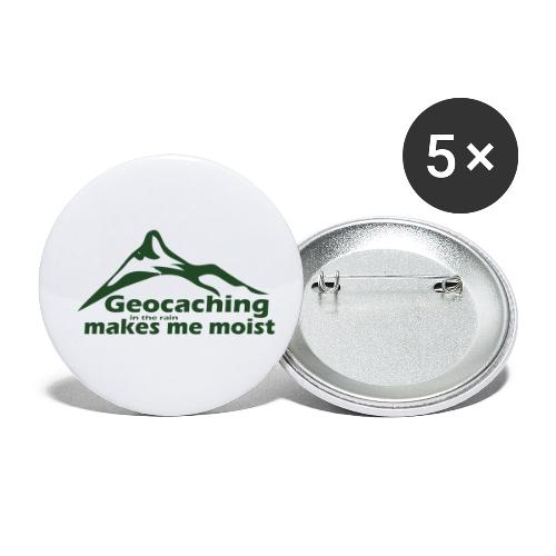 Geocaching in the Rain - Buttons small 1'' (5-pack)