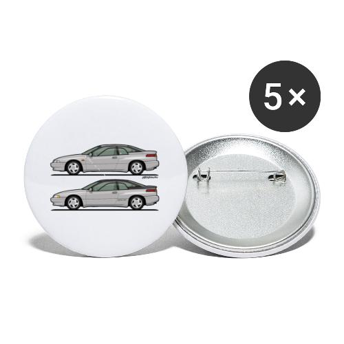 SVX Liquid Silver Duo - Buttons small 1'' (5-pack)