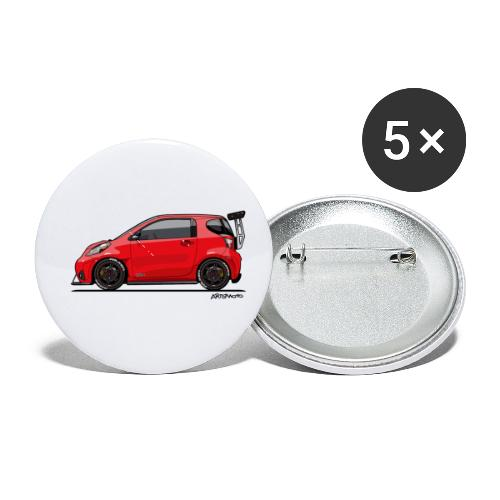 Toyota Scion iQ Track - Buttons small 1'' (5-pack)