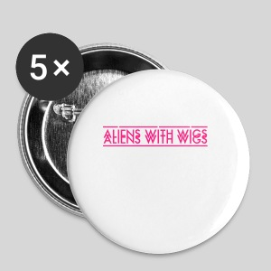 AliensWithWigs-Logo-Rose - Small Buttons