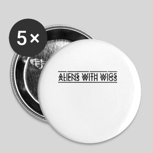 AliensWithWigs-Logo-Noir - Small Buttons