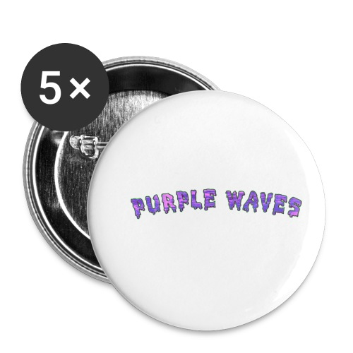 Purple Waves - Buttons small 1'' (5-pack)
