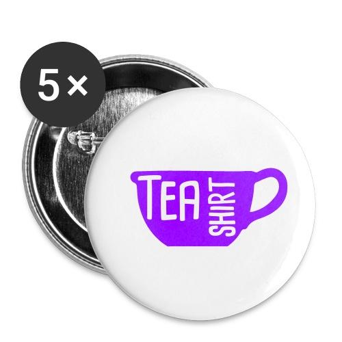 Tea Shirt Purple Power of Tea - Buttons small 1'' (5-pack)