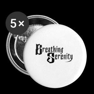 Breathing Serenity Black LOGO - Small Buttons