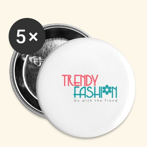Trendy Fashions Go with The Trend @ Trendyz Shop - Buttons small 1'' (5-pack)