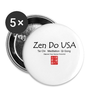 Zen Do USA logo and cell phone clothing busshist - Small Buttons