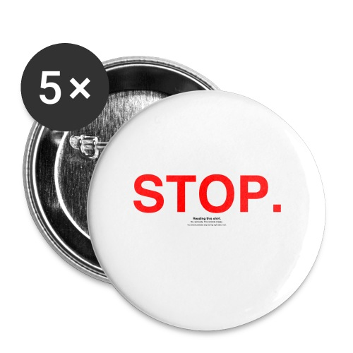 stop - Buttons small 1'' (5-pack)