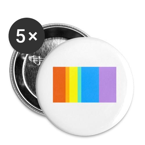 Modern Rainbow - Buttons small 1'' (5-pack)