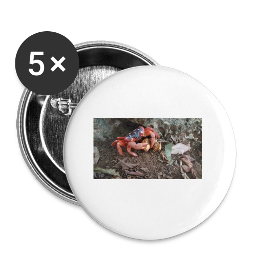Red Crab - Buttons small 1'' (5-pack)