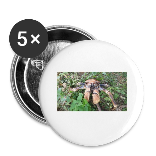 Robber Crab - Buttons small 1'' (5-pack)