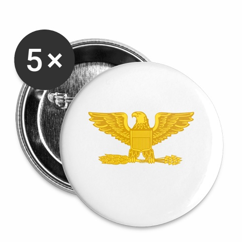 Colonel Gold Eagle Design - Buttons small 1'' (5-pack)