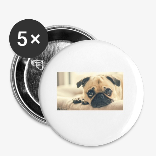 Pug - Buttons small 1'' (5-pack)