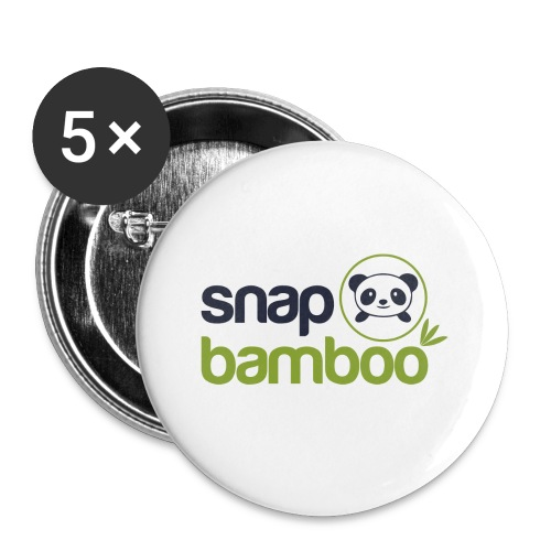 Snap Bamboo Square Logo Branded - Buttons small 1'' (5-pack)