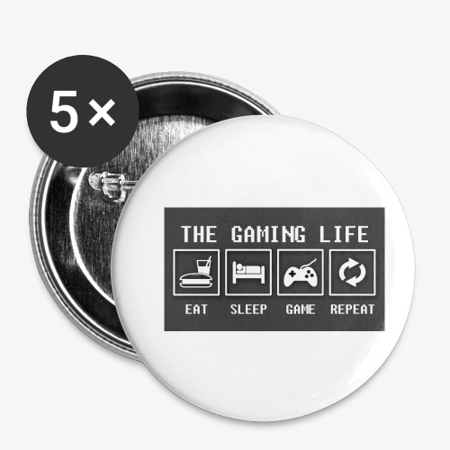 Gaming is life - Buttons small 1'' (5-pack)