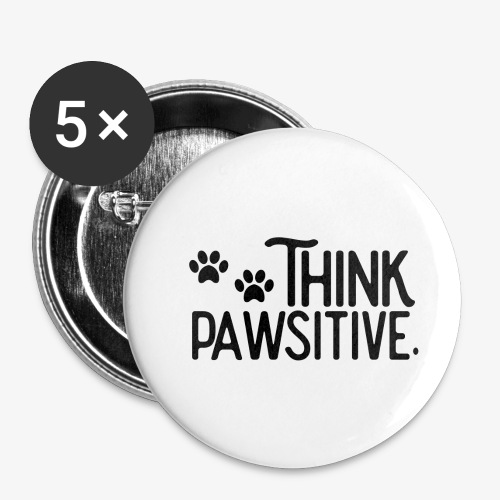 Think Positive - Paws - Small Buttons