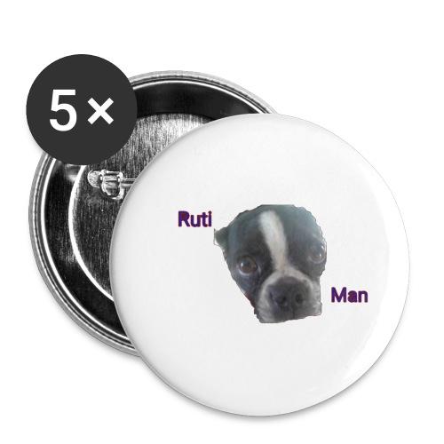 Ruti Man logo merch - Buttons small 1'' (5-pack)