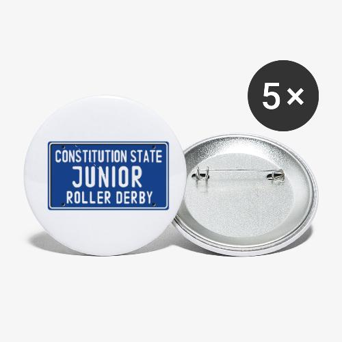 Constitution State Junior Roller Derby - Buttons small 1'' (5-pack)