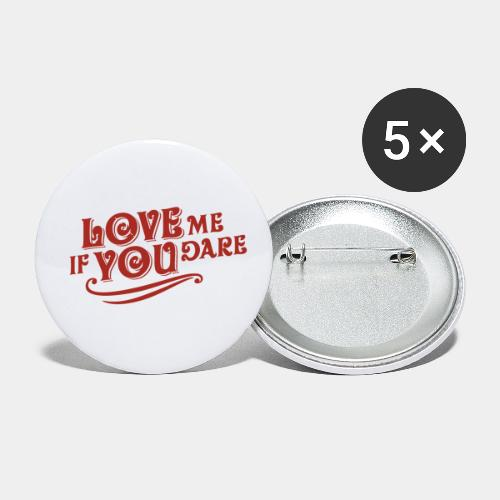 Love - Buttons small 1'' (5-pack)