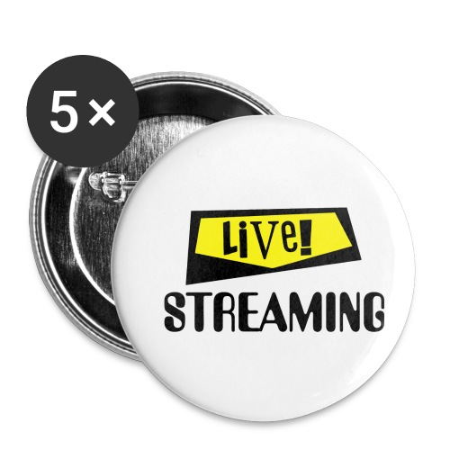 Live Streaming - Buttons small 1'' (5-pack)