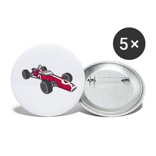 Red racing car, racecar, sportscar - Buttons small 1'' (5-pack)
