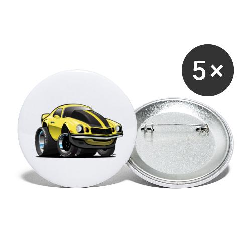Seventies Classic American Muscle Car Cartoon - Buttons small 1'' (5-pack)