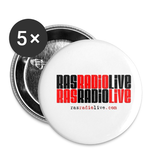 rasradiolive png - Buttons small 1'' (5-pack)