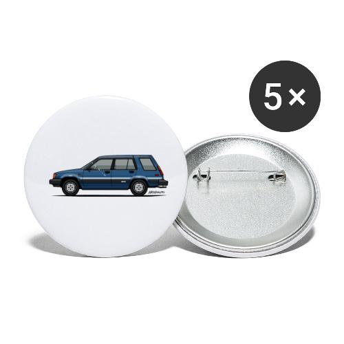 Toyota Tercel SR5 4WD Wagon Blue - Buttons small 1'' (5-pack)