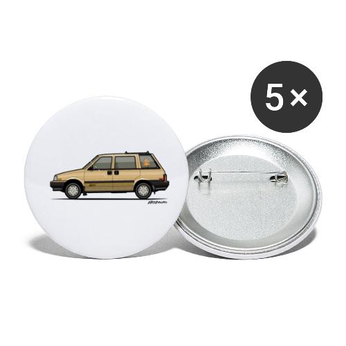 Nissan Stanza 4wd Multi Wagon Datsun Prairie Gold - Buttons small 1'' (5-pack)
