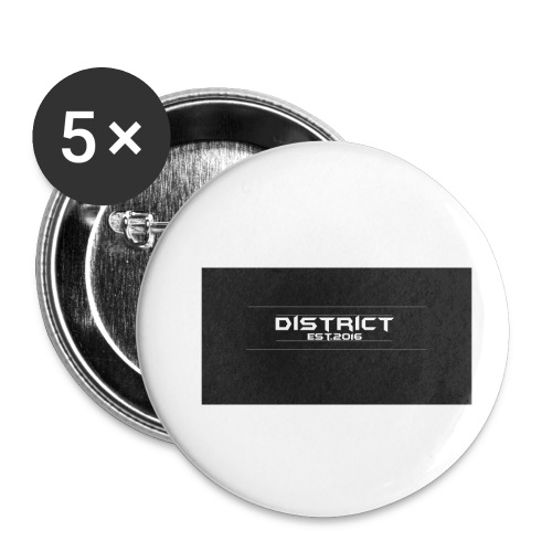 District apparel - Buttons small 1'' (5-pack)