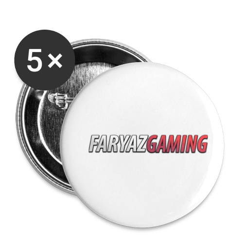 FaryazGaming Text - Buttons small 1'' (5-pack)