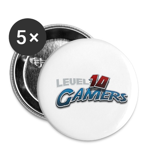 Level10Gamers Logo - Buttons small 1'' (5-pack)