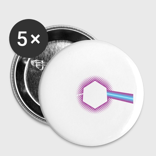 Dungeons and Dragons d20 - Buttons small 1'' (5-pack)