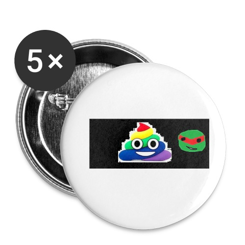 ninja poop - Buttons small 1'' (5-pack)